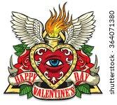 vector tattoo art on the theme... | Shutterstock .eps vector #364071380
