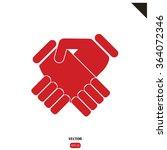 handshake vector illustration | Shutterstock .eps vector #364072346
