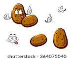 fresh cartoon farm potato... | Shutterstock .eps vector #364075040