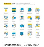 outline icon set of business...