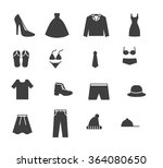 set of line icons of men and... | Shutterstock .eps vector #364080650