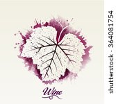 wine leaf. illustration for... | Shutterstock .eps vector #364081754