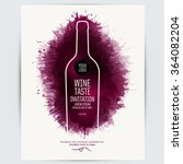 design template list  wine... | Shutterstock .eps vector #364082204