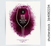 design template list  wine... | Shutterstock .eps vector #364082234