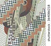 mess geometric seamless pattern | Shutterstock .eps vector #364086218