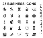 business icons set. | Shutterstock .eps vector #364091198