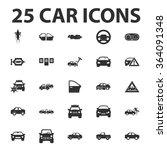 car icons set.  | Shutterstock .eps vector #364091348