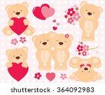 valentine teddy | Shutterstock .eps vector #364092983