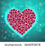 valentine's day abstract... | Shutterstock .eps vector #364095878