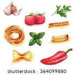 hand drawn watercolor... | Shutterstock . vector #364099880