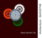 happy republic day india... | Shutterstock .eps vector #364102748