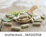 herb capsule  nutritional... | Shutterstock . vector #364102928