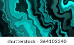 Abstract Teal Blue And Black...