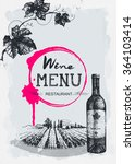 wine menu restaurant brochure.... | Shutterstock .eps vector #364103414