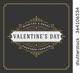 valentine's day greeting card... | Shutterstock .eps vector #364106534