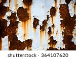 corroded white metal background.... | Shutterstock . vector #364107620