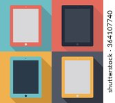 tablet ipad icons set in the... | Shutterstock .eps vector #364107740