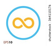 infinity icon for web and mobile | Shutterstock .eps vector #364110176