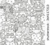 seamless pattern for coloring... | Shutterstock .eps vector #364117313