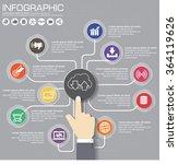 seo concept internet technology ... | Shutterstock .eps vector #364119626