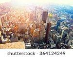 aerial view of manhattan... | Shutterstock . vector #364124249