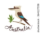 Kookaburra Bird. Vector Travel...