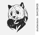 abstract panda. hand draw | Shutterstock .eps vector #364128428