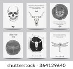 vector set of modern gothic... | Shutterstock .eps vector #364129640