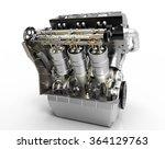 v8 car engine. concept of... | Shutterstock . vector #364129763