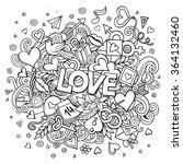 cartoon vector hand drawn... | Shutterstock .eps vector #364132460