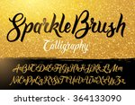 calligraphic brushpen font with ... | Shutterstock .eps vector #364133090