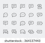 speech bubbles vector icon set... | Shutterstock .eps vector #364137443