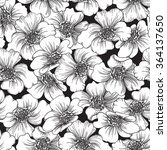 floral pattern. vector ornate... | Shutterstock .eps vector #364137650