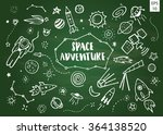 card with space objects on... | Shutterstock .eps vector #364138520
