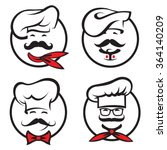set of icons with whiskered... | Shutterstock .eps vector #364140209