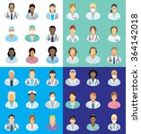 medical staff   set of icons... | Shutterstock .eps vector #364142018