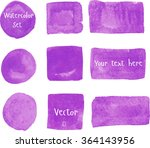 set of watercolor elements.... | Shutterstock .eps vector #364143956