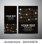 abstract gold lights technology ... | Shutterstock .eps vector #364144076