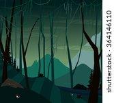 landscape of dark fabulous... | Shutterstock .eps vector #364146110