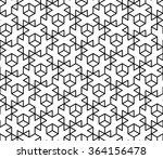 vector modern seamless sacred... | Shutterstock .eps vector #364156478