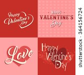 valentines day vintage vector... | Shutterstock .eps vector #364156724