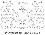 vector collection of hand drawn ... | Shutterstock .eps vector #364164116