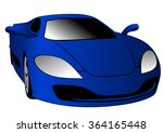 blue car | Shutterstock .eps vector #364165448