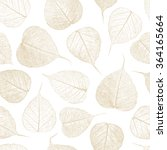 seamless pattern with leafs... | Shutterstock .eps vector #364165664