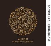 round calligraphic hand drawn... | Shutterstock .eps vector #364166708