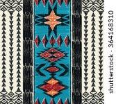 tribal aztec geometric pattern. ... | Shutterstock .eps vector #364168310