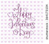 happy valentine day inscription.... | Shutterstock .eps vector #364173104