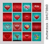 a set of heart shapes. | Shutterstock . vector #364173860