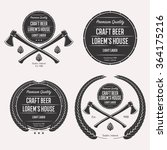 craft beer logo set emblem ... | Shutterstock . vector #364175216