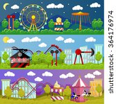 amusement park banner concept... | Shutterstock .eps vector #364176974